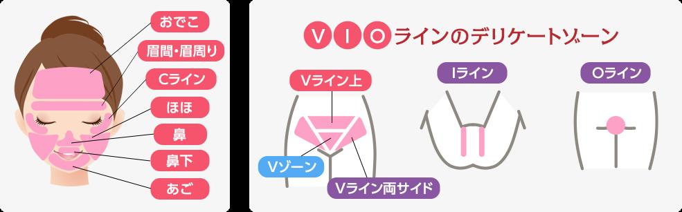 顔・VIOライン